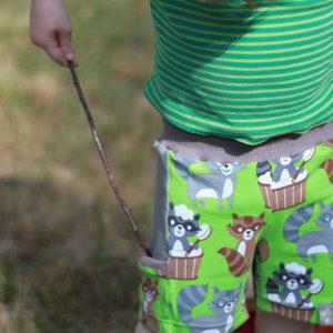 """Shorts """"Sporty"""" Waschbären"""